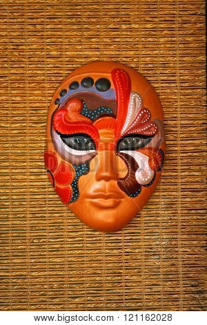 Traditional folk mask available for sale in Hanoi, Vietnam