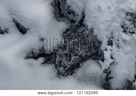 Frozen ice shape