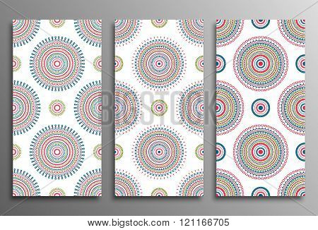 Set vintage universal different seamless eastern patterns (tiling)