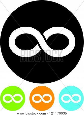Eternity symbol - Vector icon isolated on white