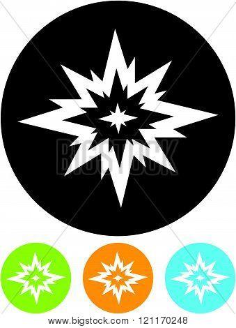 Big Bang. Flash - Vector icon isolated