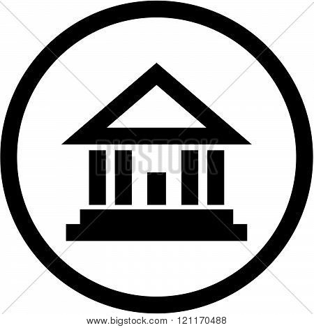 Historical building - vector icon isolated on white