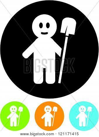 Man shovel