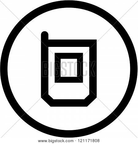 Mobile phone - Vector icon