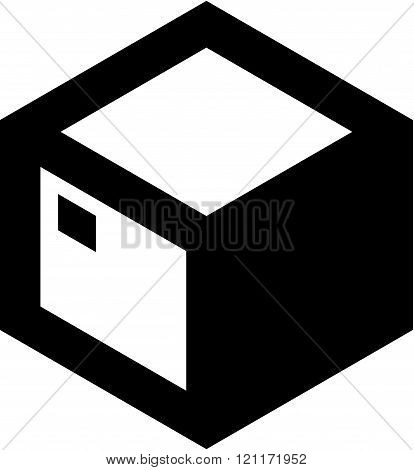 Parcel container - Vector icon isolated on white.