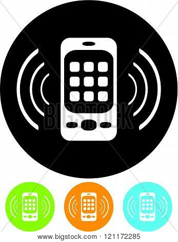 Mobile cell phone - Vector icon isolated