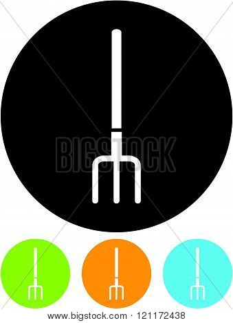 Pitchfork - Vector icon isolated on white