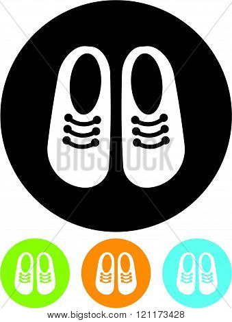 Children's baby shoes - Vector icon isolated.
