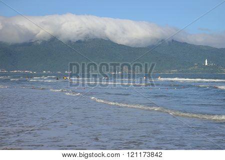 South China Sea near the beach in Da Nang, Vietnam