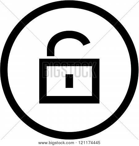 Padlock - Vector icon