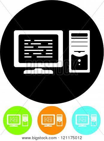 Desktop computer - Vector illustration