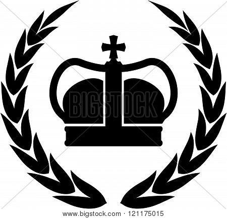 Vector laurel wreath and crown