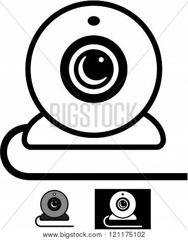 Webcam - Vector illustration isolated
