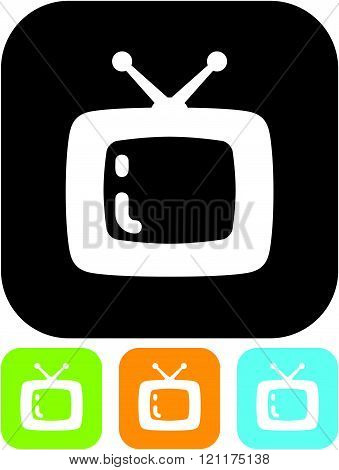 TV vector icon