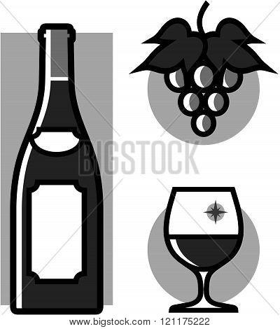 Wine - Vector Illustration