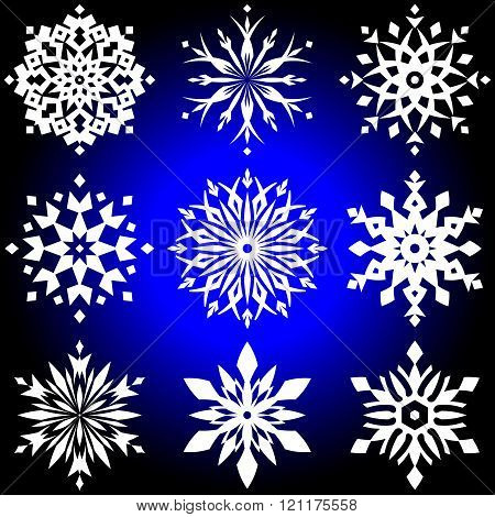 Christmas designs - vector snowflakes