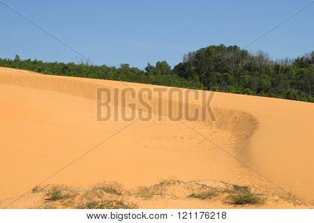 Red sand dunes near Mui Ne. Vietnam