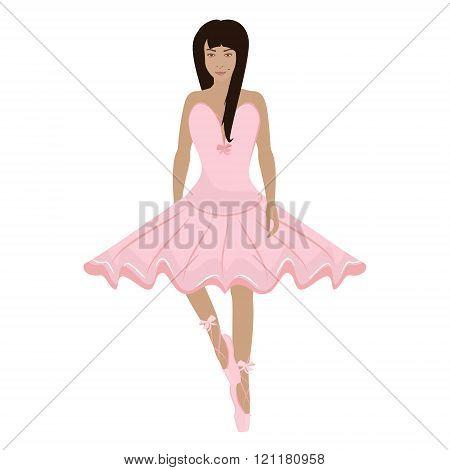 Girl Ballerina Character