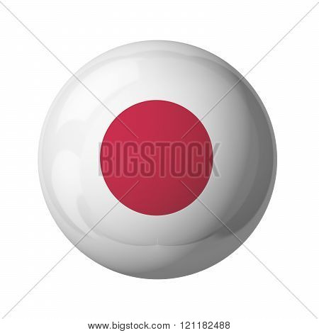3D flag of Japan isolated on white