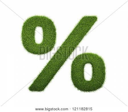 3d render of grass symbol isolated on white
