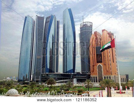 Skyscrapers in Abu Dhabi, United Arab Emirates