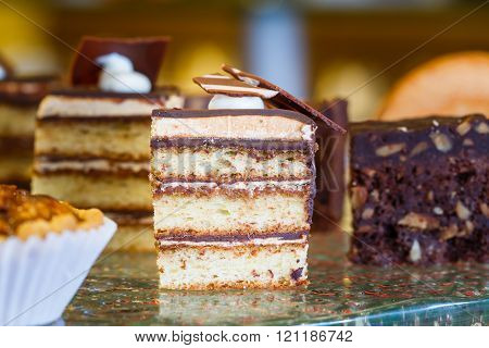 Piece Of Chocolate Layer Cake