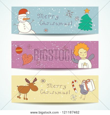 Merry Christmas Happy companions banner.