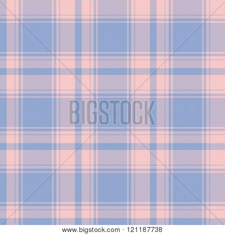 Traditional Scottish Tartan Pattern In Both Rose Quartz And Serenity Color Of The Year 2016 Made Sea