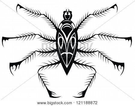 Black spider. Tattoo vector spider. Spider symbol