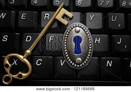Data Encryption Key Lock