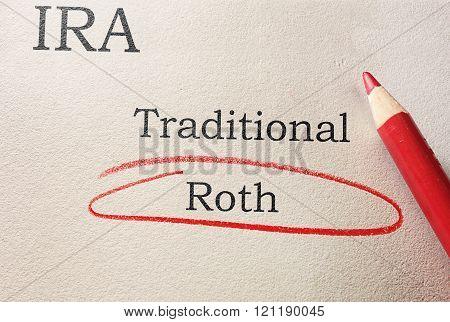 Roth IRA Circled