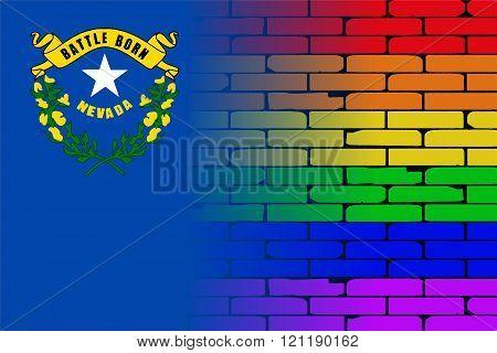 Rainbow Wall Nevada