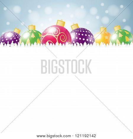 Vintage vector Christmas card.