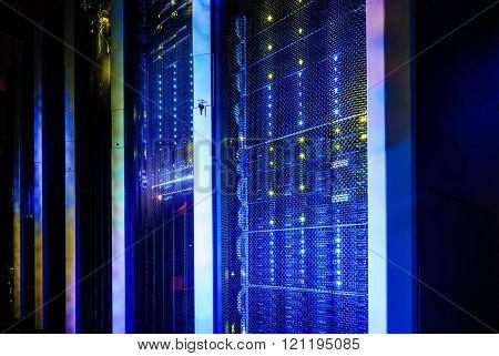 supercomputer disk storage in series of data center equipment