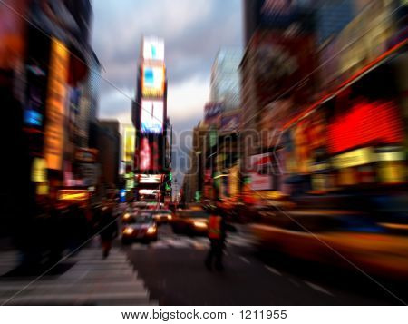 Time Square in der Nacht in New York city