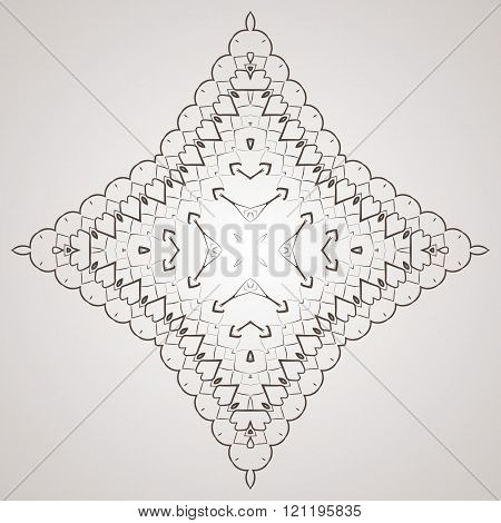 Vector circular pattern in the form of intricate flower. Mandala. Lacy napkin.