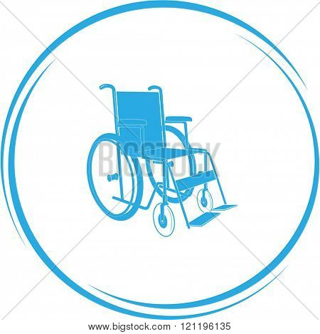 invalid chair. Internet button. Raster icon.