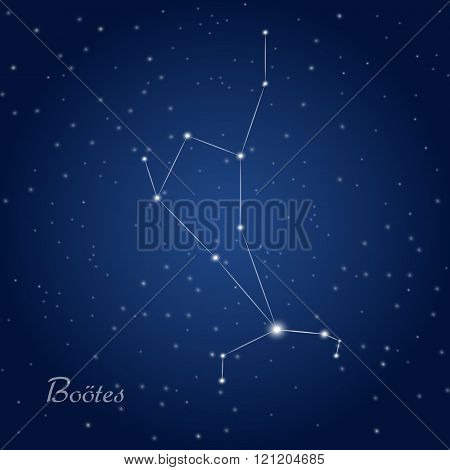 Boötes star constellation