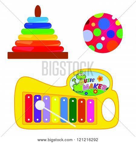 baby toys set illustration