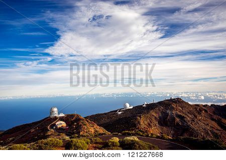 Astronomical observatory on La Palma island
