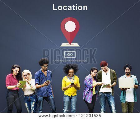 Location Navigation Information Direction Destination Concept
