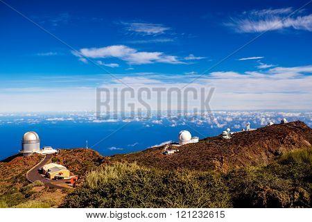 Astronomical observatory on La Palma island
