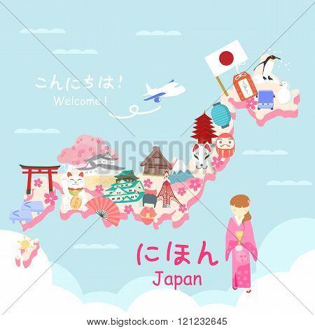 Cute Cartoon Japan Element