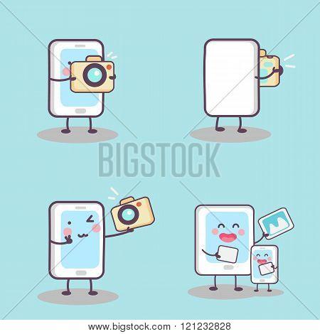 Cute Cartoon Phone Selfie