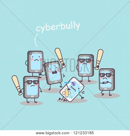 Cute Cartoon Cellphone Bully