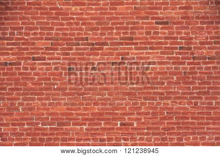old Red Brick Wall for background use