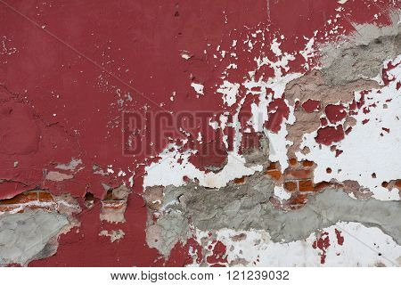 old Weathered Red Wall for background use