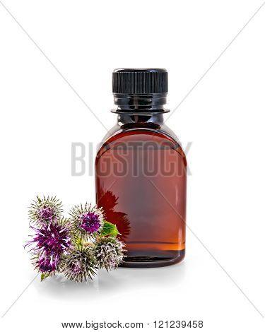 Oil with burr in bottle