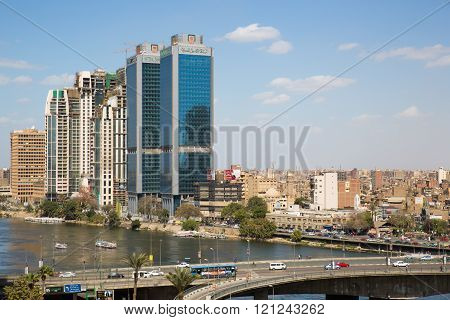 Central Cairo And The Nile River