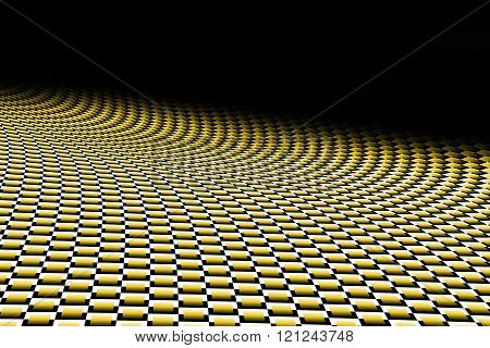 Gold Curve Carbon Fiber